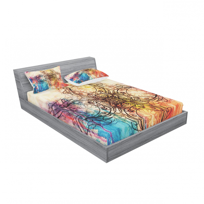 thumbnail 171 - Ambesonne-Mandala-Fitted-Sheet-Pillow-Sham-Set-Bedding-Decor-in-4-Sizes