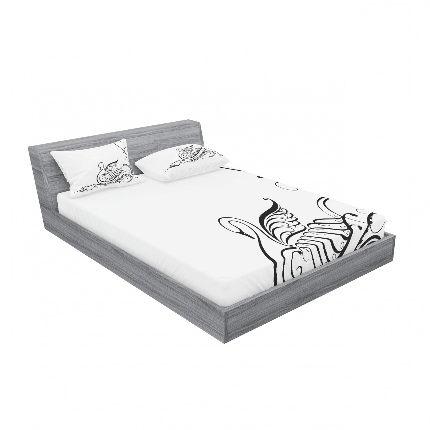 thumbnail 15 - Ambesonne Animal Fitted Sheet Pillow Sham Set Bedding Decor in 4 Sizes