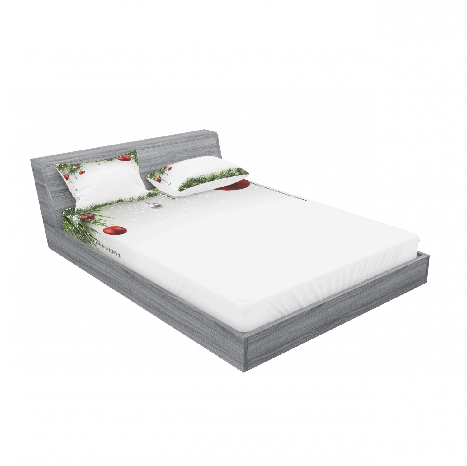 thumbnail 187 - Ambesonne Christmas Fitted Sheet Pillow Sham Set Bedding Decor in 4 Sizes