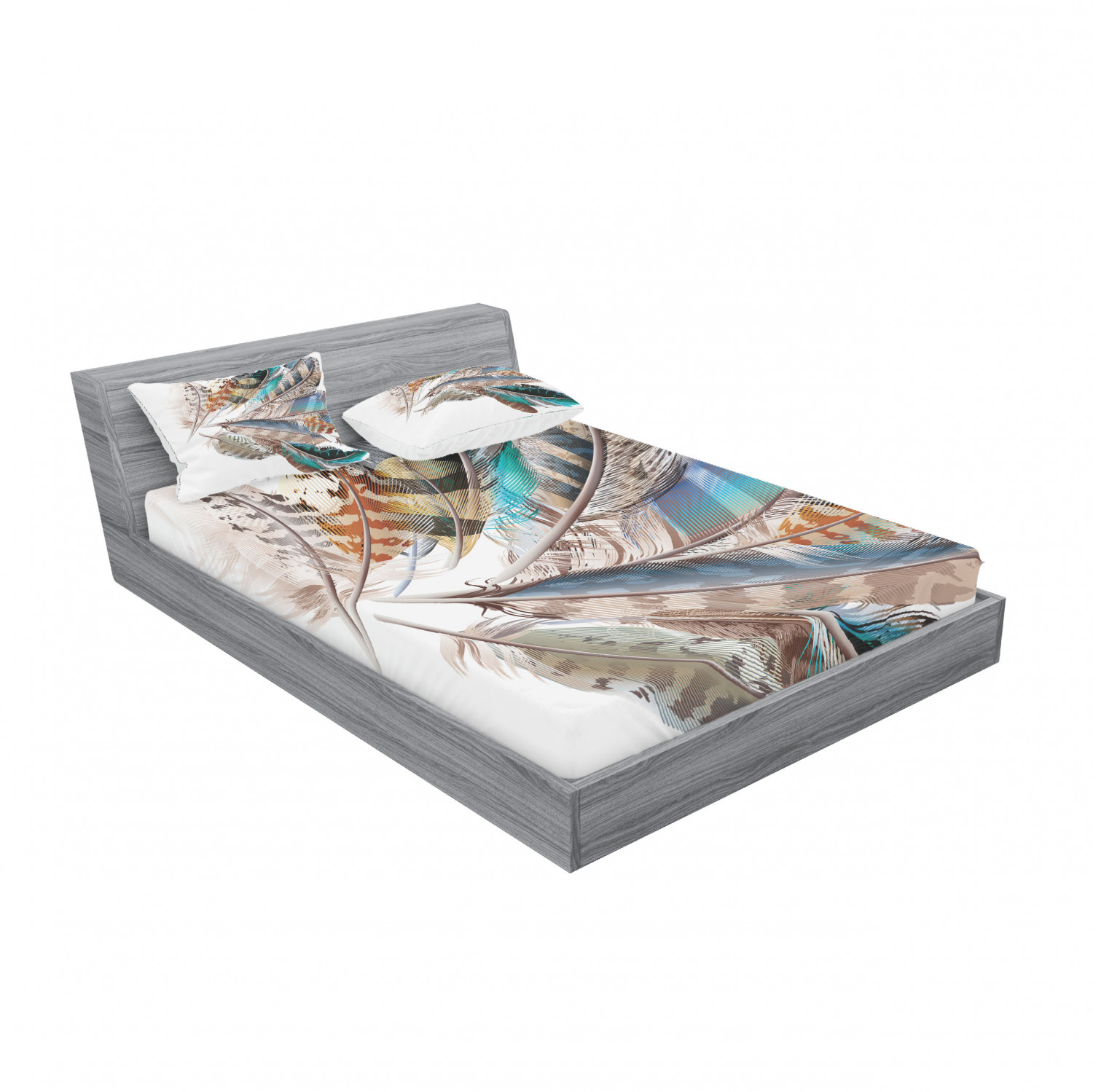 thumbnail 63 - Ambesonne Animal Fitted Sheet Pillow Sham Set Bedding Decor in 4 Sizes