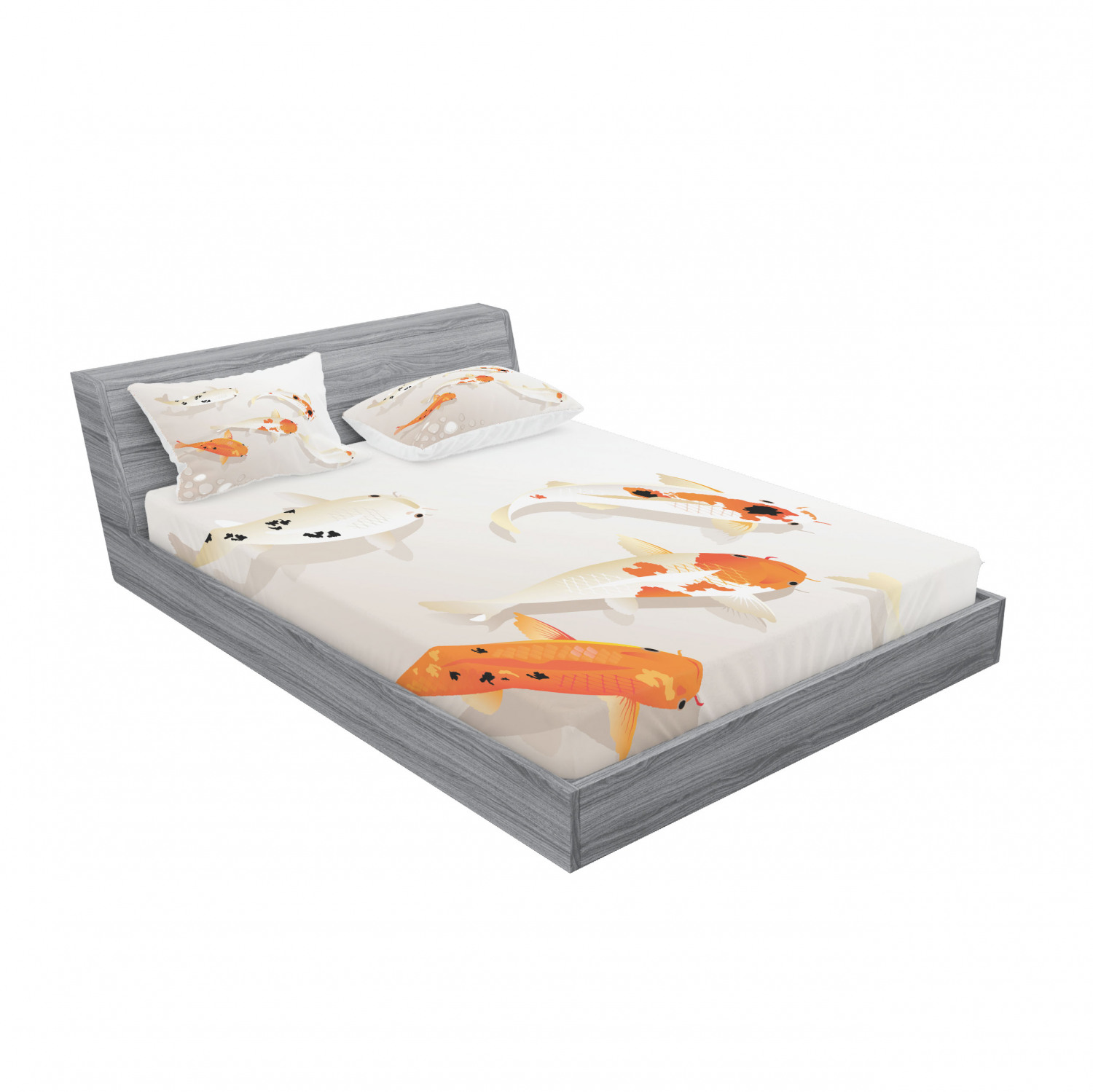 thumbnail 203 - Ambesonne Animal Fitted Sheet Pillow Sham Set Bedding Decor in 4 Sizes