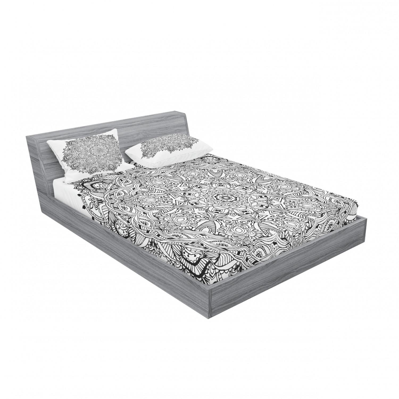thumbnail 115 - Ambesonne-Mandala-Fitted-Sheet-Pillow-Sham-Set-Bedding-Decor-in-4-Sizes