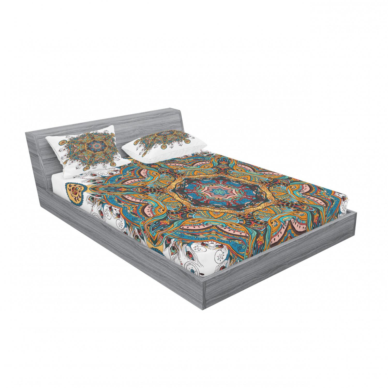 thumbnail 211 - Ambesonne-Mandala-Fitted-Sheet-Pillow-Sham-Set-Bedding-Decor-in-4-Sizes