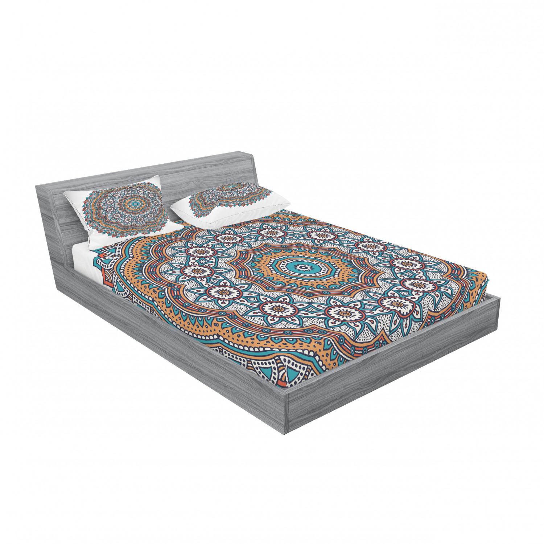 thumbnail 227 - Ambesonne-Mandala-Fitted-Sheet-Pillow-Sham-Set-Bedding-Decor-in-4-Sizes