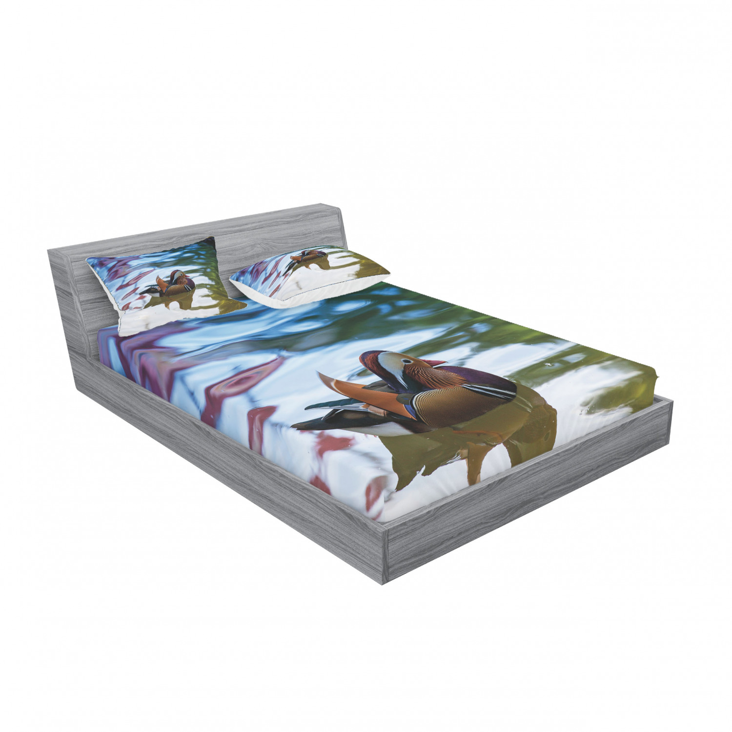 thumbnail 39 - Ambesonne Animal Fitted Sheet Pillow Sham Set Bedding Decor in 4 Sizes
