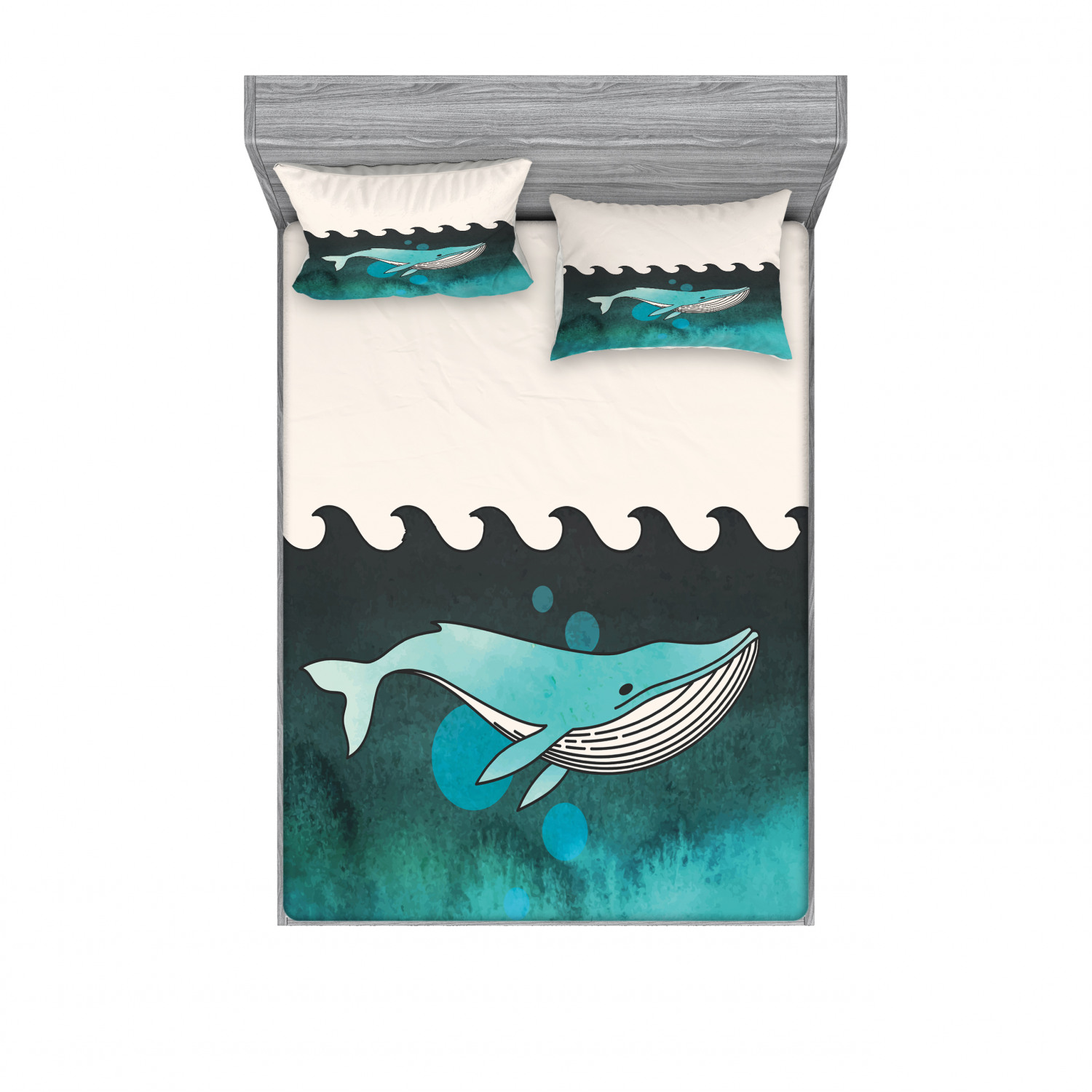 thumbnail 226 - Ambesonne Animal Fitted Sheet Pillow Sham Set Bedding Decor in 4 Sizes