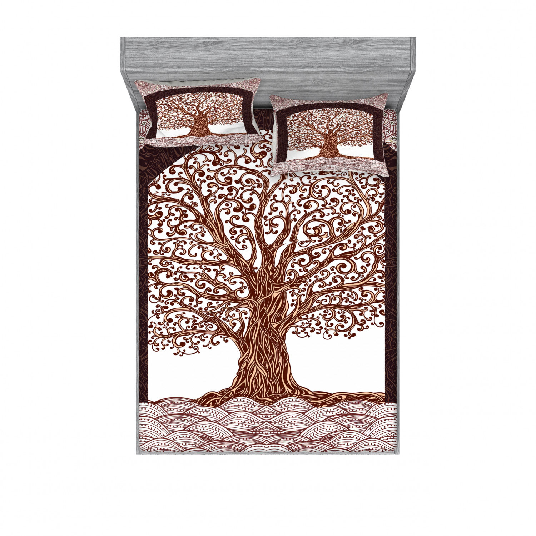 thumbnail 202 - Ambesonne-Mandala-Fitted-Sheet-Pillow-Sham-Set-Bedding-Decor-in-4-Sizes