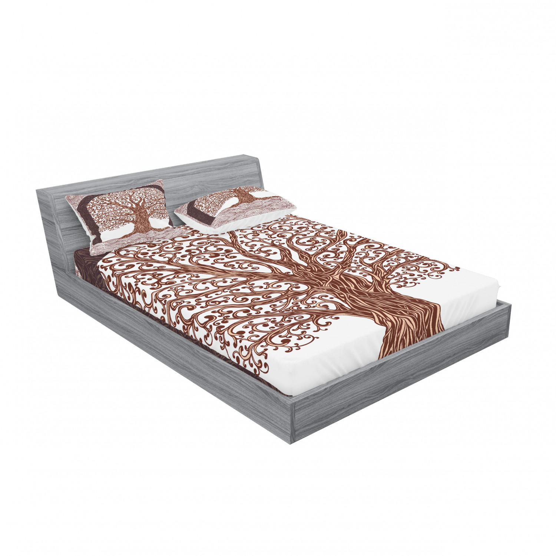 thumbnail 203 - Ambesonne-Mandala-Fitted-Sheet-Pillow-Sham-Set-Bedding-Decor-in-4-Sizes