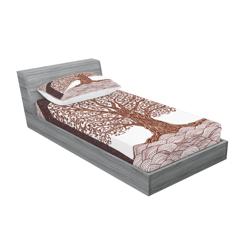 thumbnail 201 - Ambesonne-Mandala-Fitted-Sheet-Pillow-Sham-Set-Bedding-Decor-in-4-Sizes