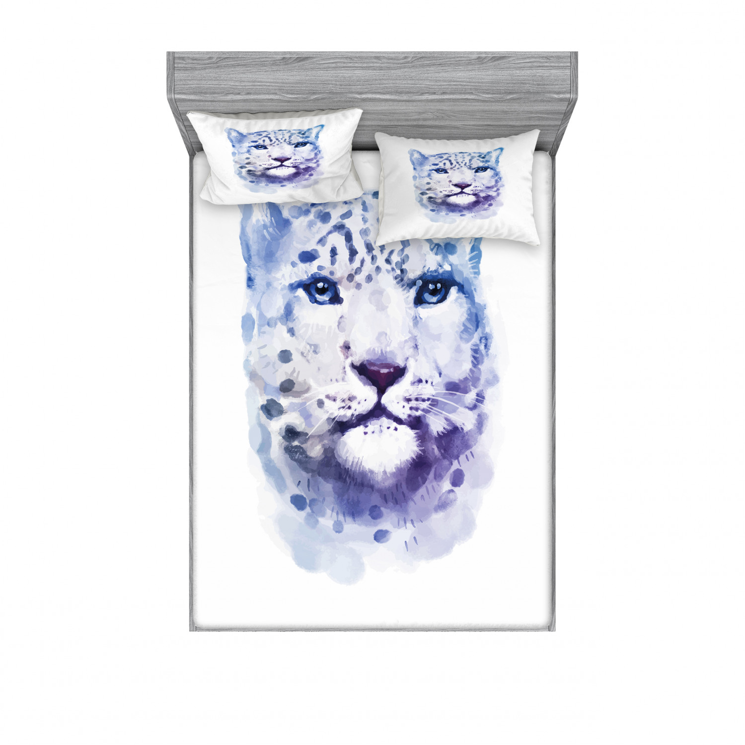 thumbnail 126 - Ambesonne Animal Fitted Sheet Pillow Sham Set Bedding Decor in 4 Sizes