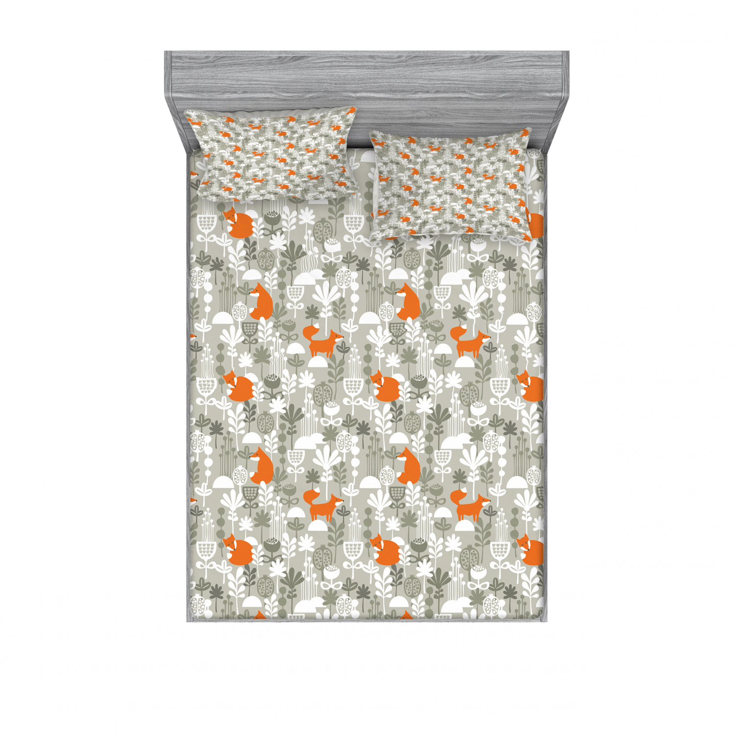 thumbnail 78 - Ambesonne Animal Fitted Sheet Pillow Sham Set Bedding Decor in 4 Sizes