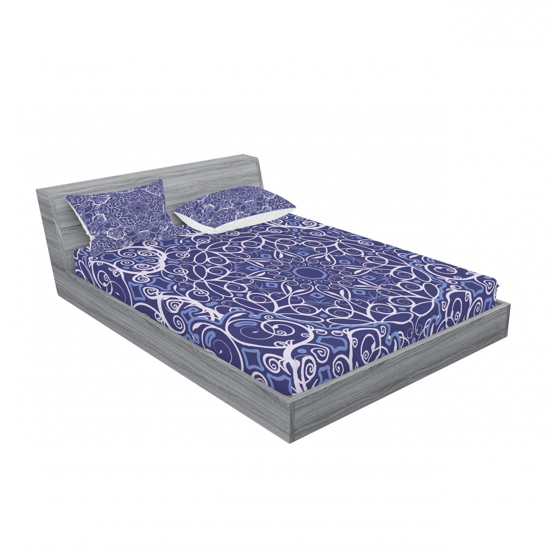 thumbnail 15 - Ambesonne-Mandala-Fitted-Sheet-Pillow-Sham-Set-Bedding-Decor-in-4-Sizes