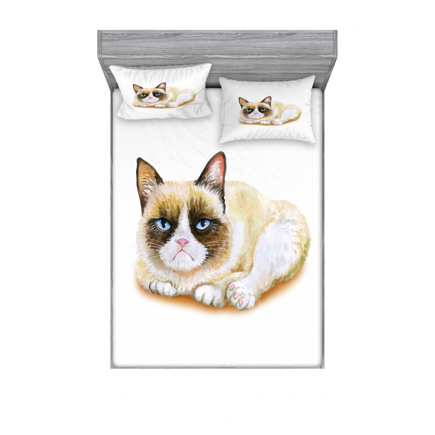 thumbnail 98 - Ambesonne Animal Fitted Sheet Pillow Sham Set Bedding Decor in 4 Sizes
