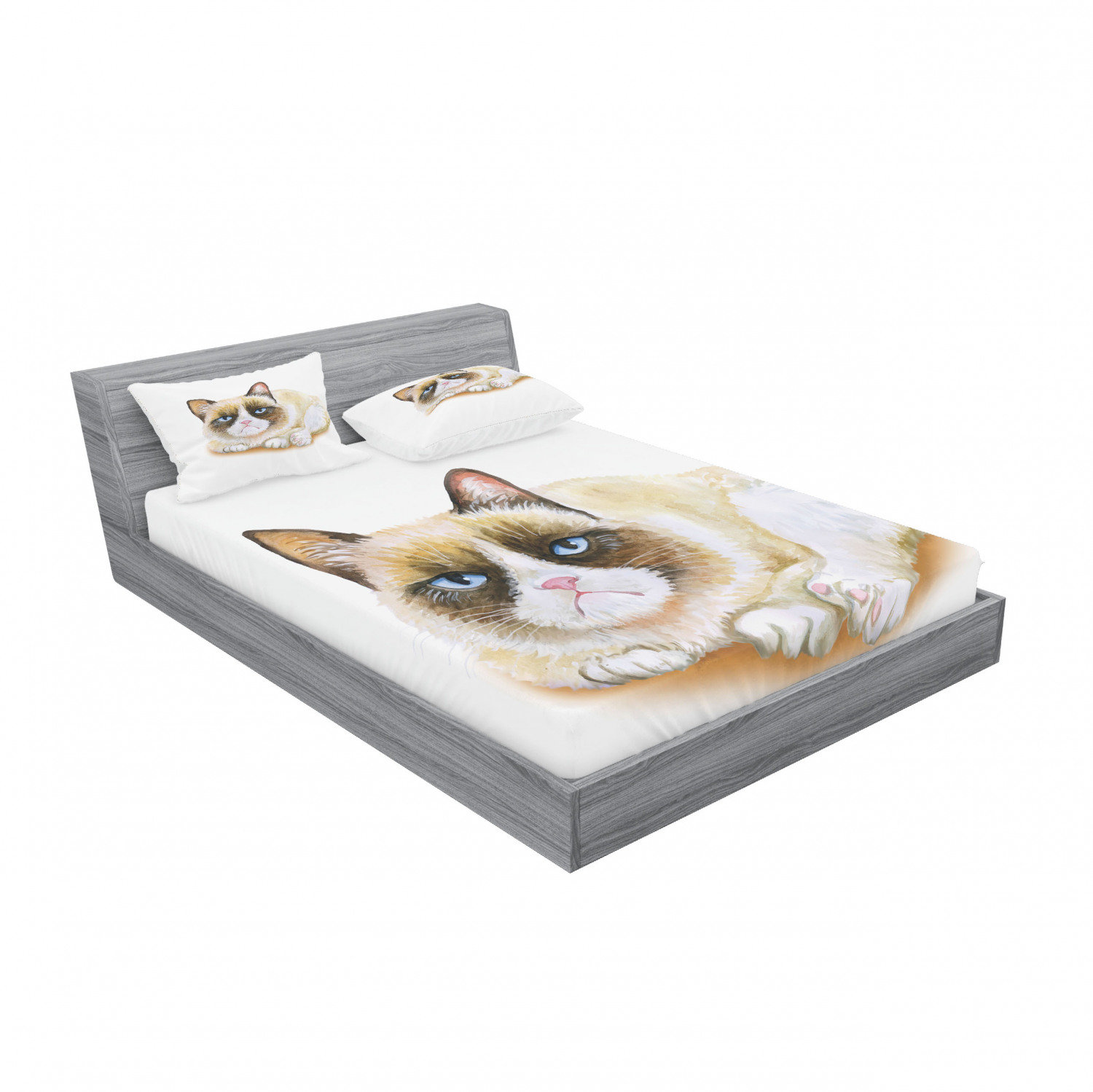 thumbnail 99 - Ambesonne Animal Fitted Sheet Pillow Sham Set Bedding Decor in 4 Sizes