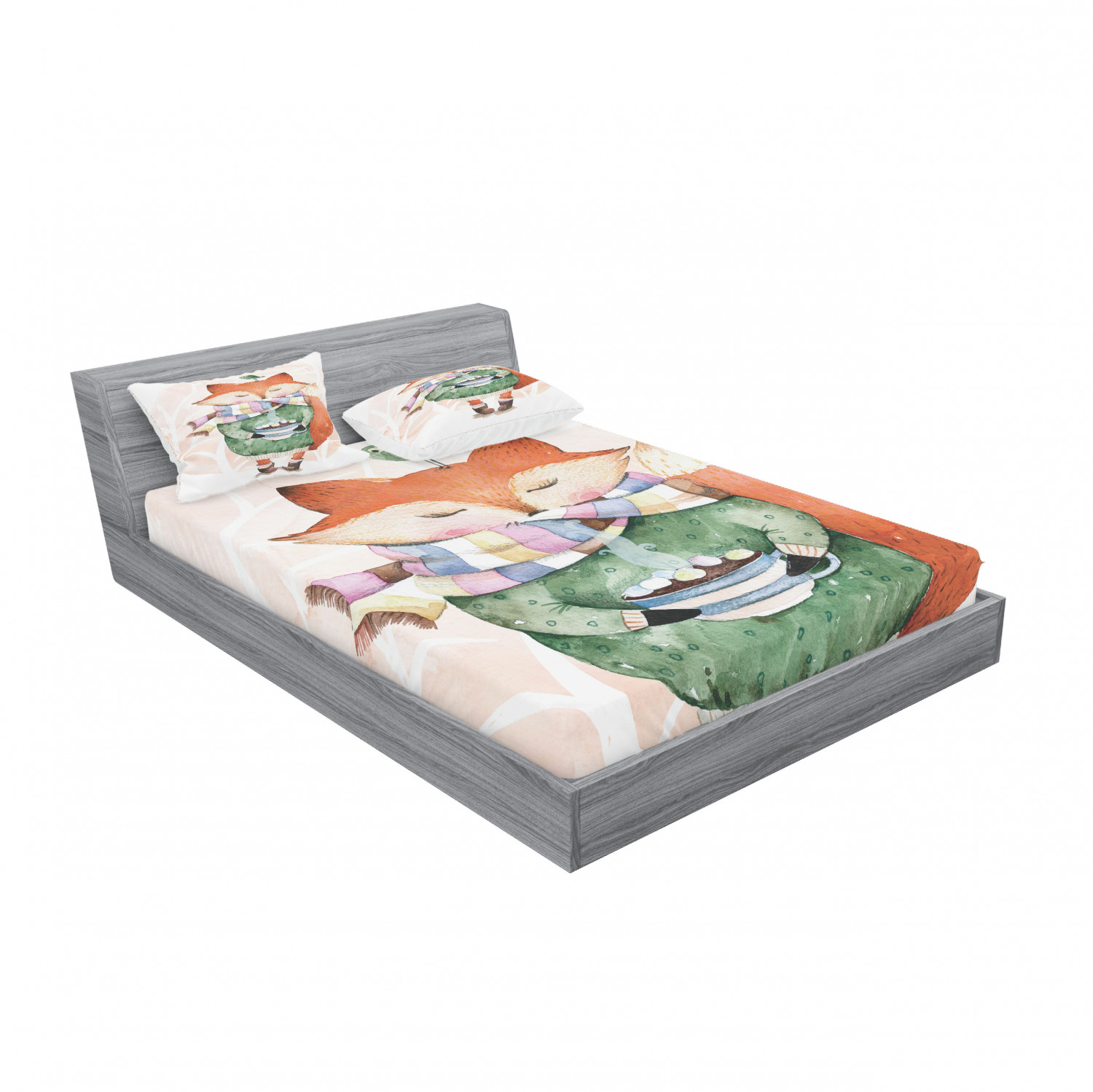 thumbnail 139 - Ambesonne Animal Fitted Sheet Pillow Sham Set Bedding Decor in 4 Sizes