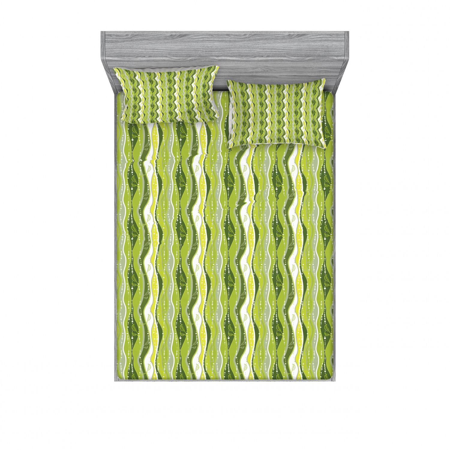 thumbnail 17 - Ambesonne Fitted Sheet & Pillow Sham Set All-round Elastic Pocket and Pillowcase