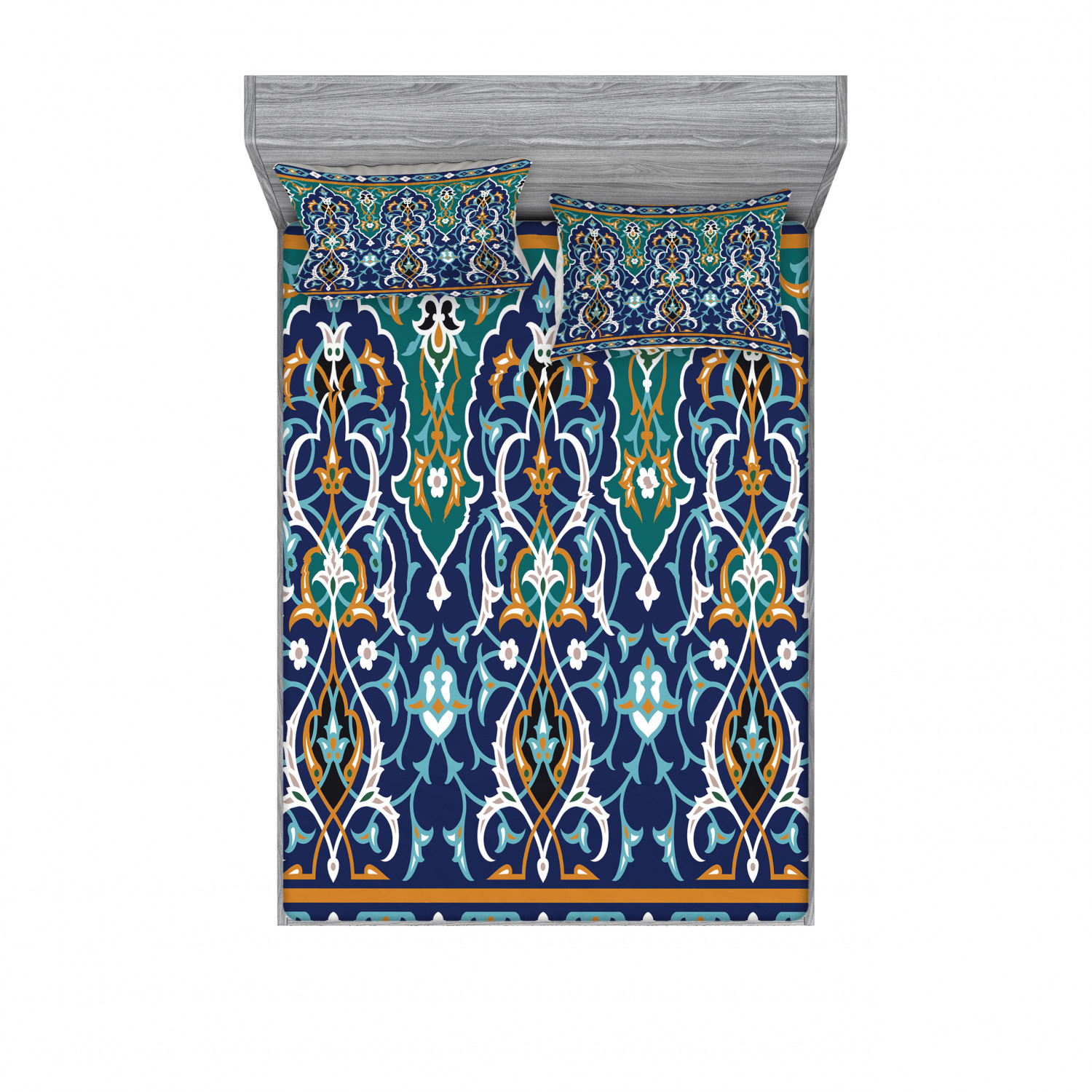 thumbnail 21 - Ambesonne Fitted Sheet & Pillow Sham Set All-round Elastic Pocket and Pillowcase
