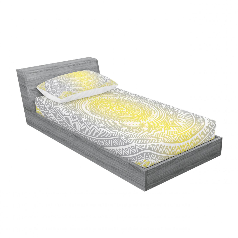 thumbnail 177 - Ambesonne-Mandala-Fitted-Sheet-Pillow-Sham-Set-Bedding-Decor-in-4-Sizes
