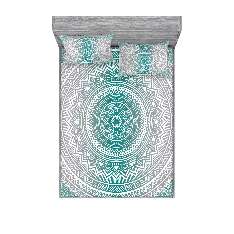 thumbnail 26 - Ambesonne-Mandala-Fitted-Sheet-Pillow-Sham-Set-Bedding-Decor-in-4-Sizes