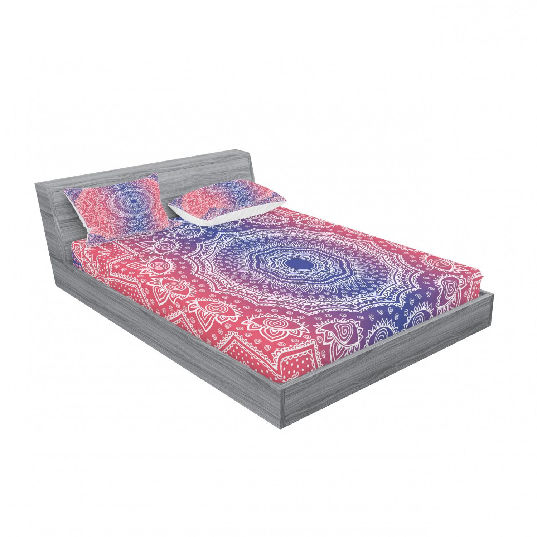 thumbnail 99 - Ambesonne-Mandala-Fitted-Sheet-Pillow-Sham-Set-Bedding-Decor-in-4-Sizes