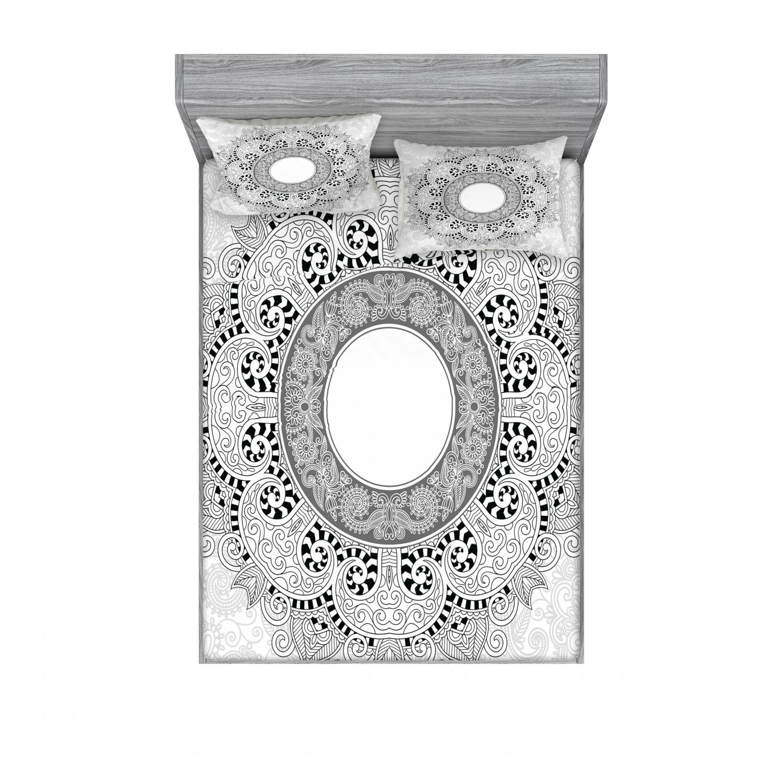 thumbnail 50 - Ambesonne-Mandala-Fitted-Sheet-Pillow-Sham-Set-Bedding-Decor-in-4-Sizes