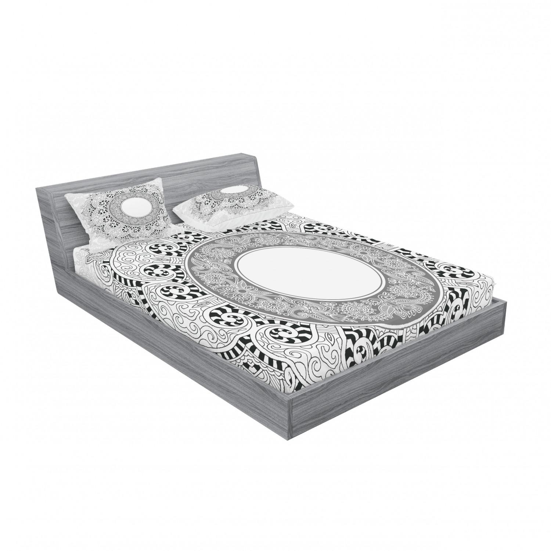 thumbnail 51 - Ambesonne-Mandala-Fitted-Sheet-Pillow-Sham-Set-Bedding-Decor-in-4-Sizes
