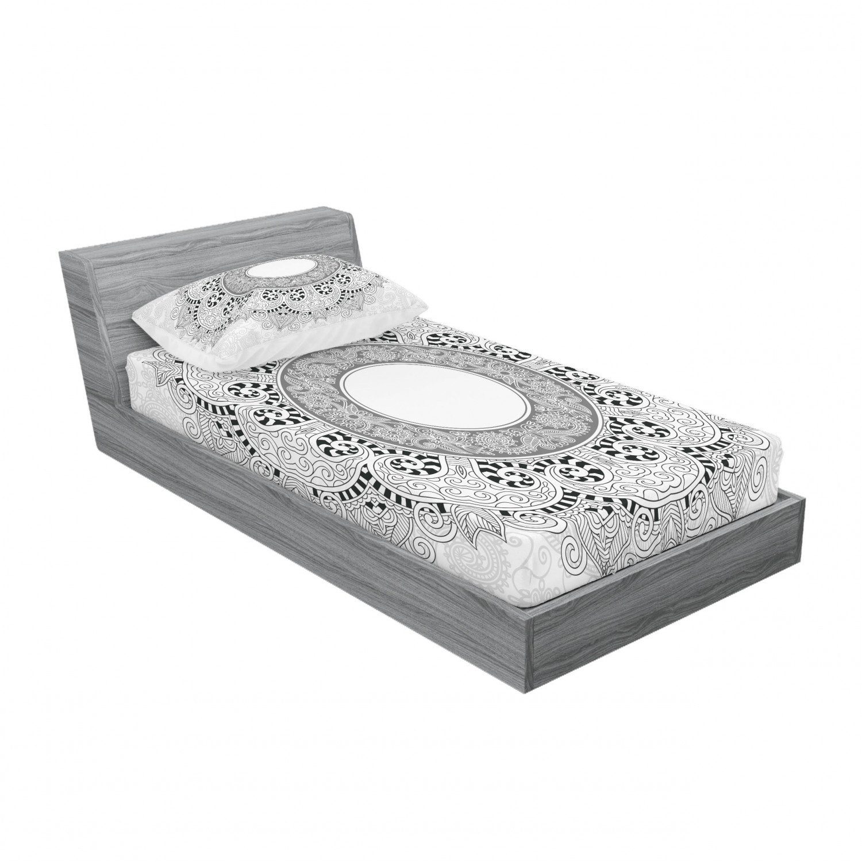 thumbnail 49 - Ambesonne-Mandala-Fitted-Sheet-Pillow-Sham-Set-Bedding-Decor-in-4-Sizes