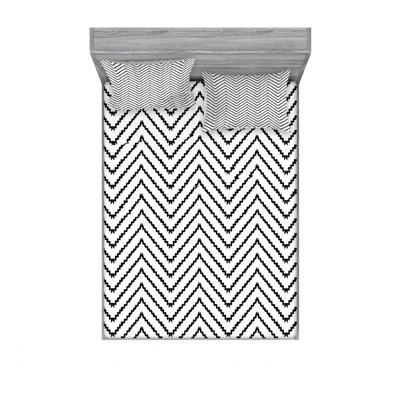thumbnail 242 - Ambesonne Modern Design Fitted Sheet Pillow Sham Set Bedding Decor in 4 Sizes