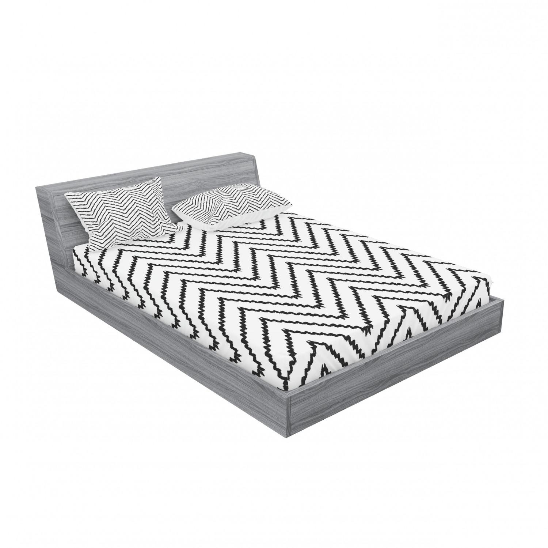 thumbnail 243 - Ambesonne Modern Design Fitted Sheet Pillow Sham Set Bedding Decor in 4 Sizes