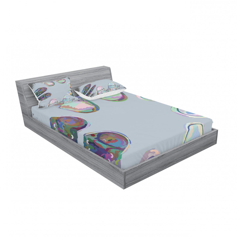 thumbnail 63 - Ambesonne Modern Design Fitted Sheet Pillow Sham Set Bedding Decor in 4 Sizes