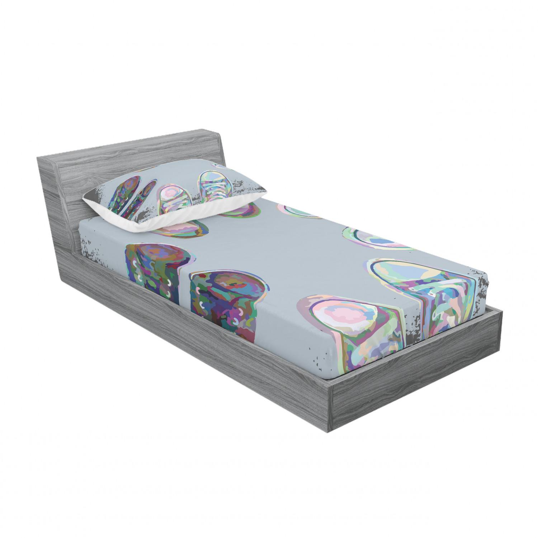 thumbnail 61 - Ambesonne Modern Design Fitted Sheet Pillow Sham Set Bedding Decor in 4 Sizes