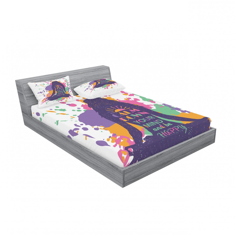 thumbnail 111 - Ambesonne Modern Design Fitted Sheet Pillow Sham Set Bedding Decor in 4 Sizes
