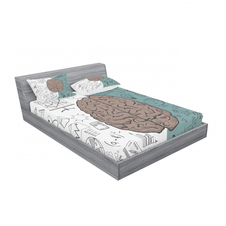 thumbnail 135 - Ambesonne Modern Design Fitted Sheet Pillow Sham Set Bedding Decor in 4 Sizes