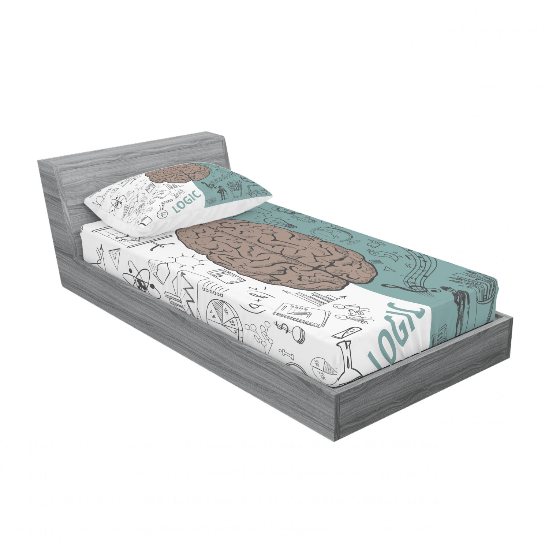 thumbnail 133 - Ambesonne Modern Design Fitted Sheet Pillow Sham Set Bedding Decor in 4 Sizes