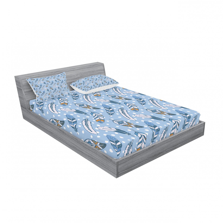thumbnail 171 - Ambesonne Modern Design Fitted Sheet Pillow Sham Set Bedding Decor in 4 Sizes