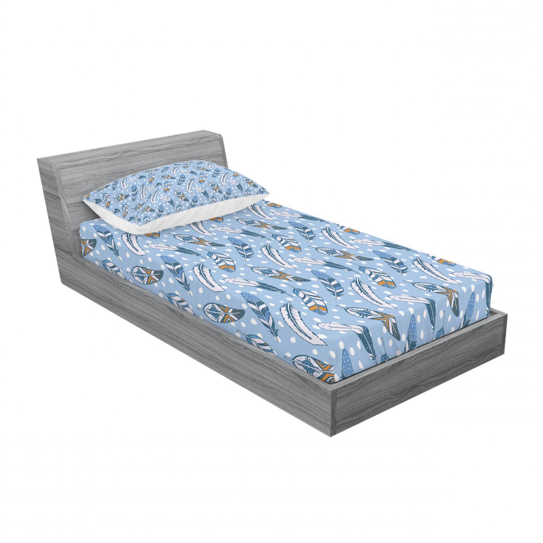 thumbnail 169 - Ambesonne Modern Design Fitted Sheet Pillow Sham Set Bedding Decor in 4 Sizes