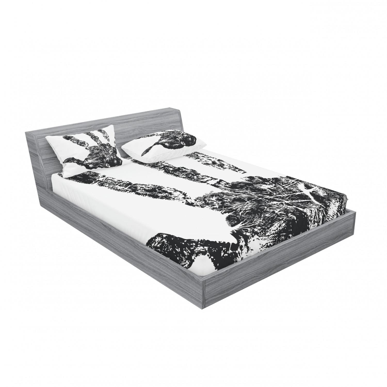 thumbnail 103 - Ambesonne Modern Design Fitted Sheet Pillow Sham Set Bedding Decor in 4 Sizes