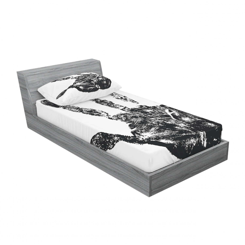 thumbnail 101 - Ambesonne Modern Design Fitted Sheet Pillow Sham Set Bedding Decor in 4 Sizes