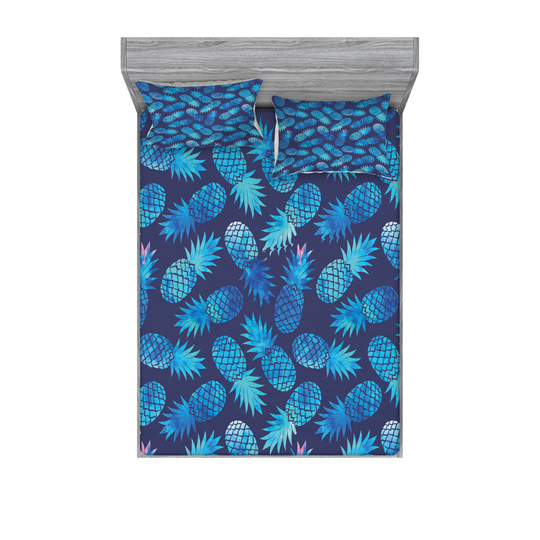 thumbnail 50 - Ambesonne Modern Design Fitted Sheet Pillow Sham Set Bedding Decor in 4 Sizes