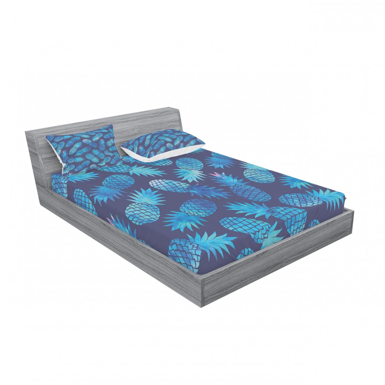 thumbnail 51 - Ambesonne Modern Design Fitted Sheet Pillow Sham Set Bedding Decor in 4 Sizes