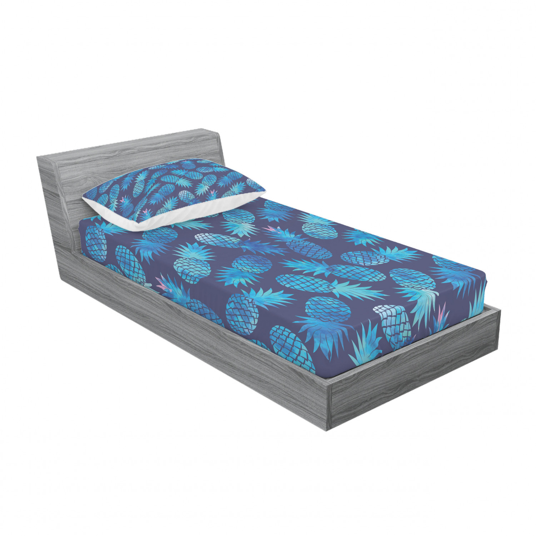 thumbnail 49 - Ambesonne Modern Design Fitted Sheet Pillow Sham Set Bedding Decor in 4 Sizes