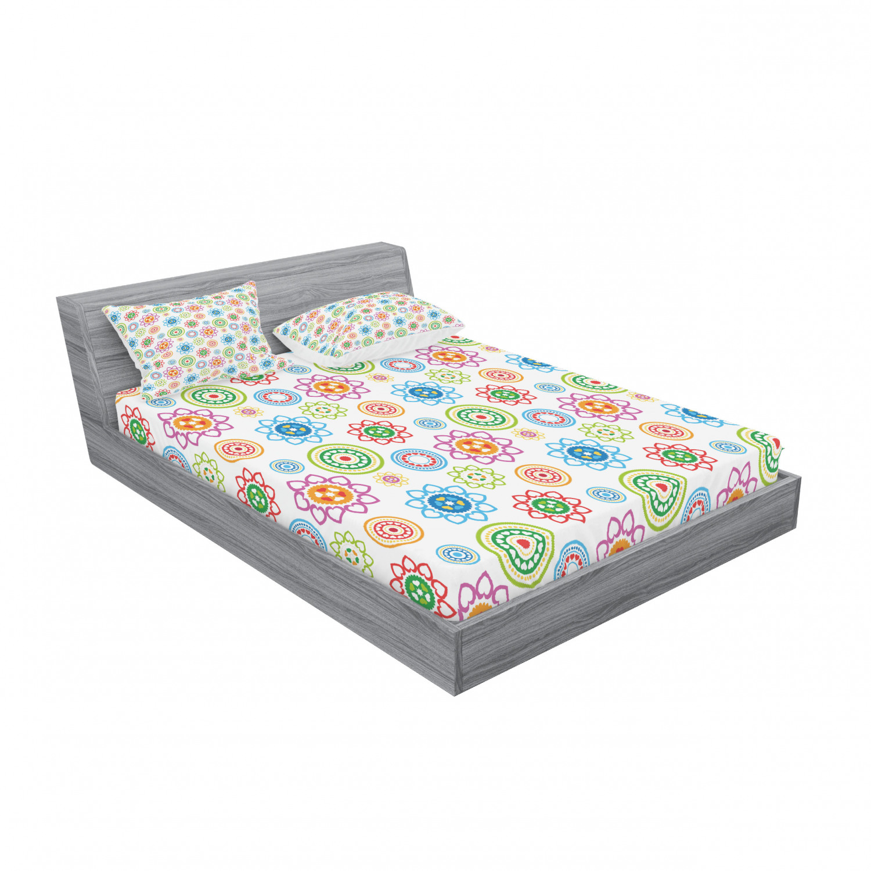 thumbnail 35 - Ambesonne Modern Design Fitted Sheet Pillow Sham Set Bedding Decor in 4 Sizes