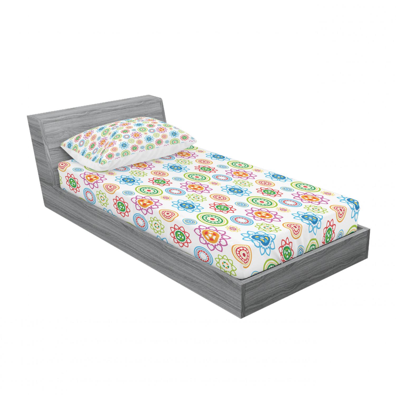 thumbnail 33 - Ambesonne Modern Design Fitted Sheet Pillow Sham Set Bedding Decor in 4 Sizes
