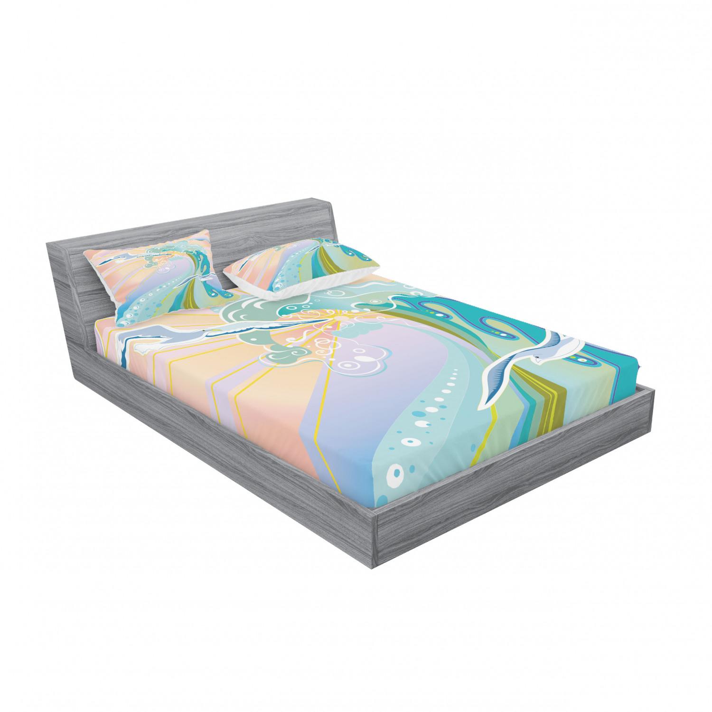 thumbnail 27 - Ambesonne Modern Design Fitted Sheet Pillow Sham Set Bedding Decor in 4 Sizes