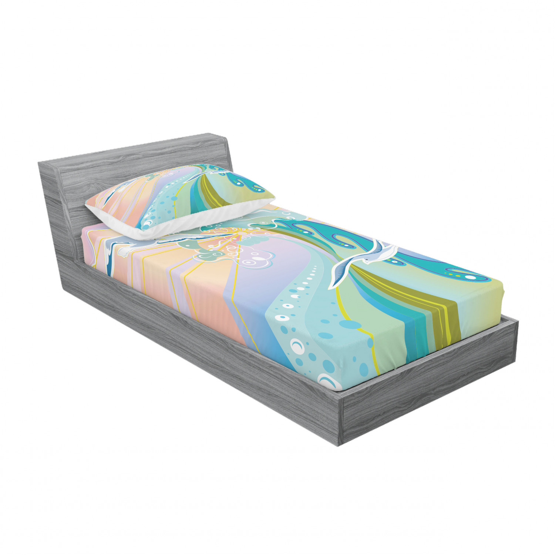 thumbnail 25 - Ambesonne Modern Design Fitted Sheet Pillow Sham Set Bedding Decor in 4 Sizes