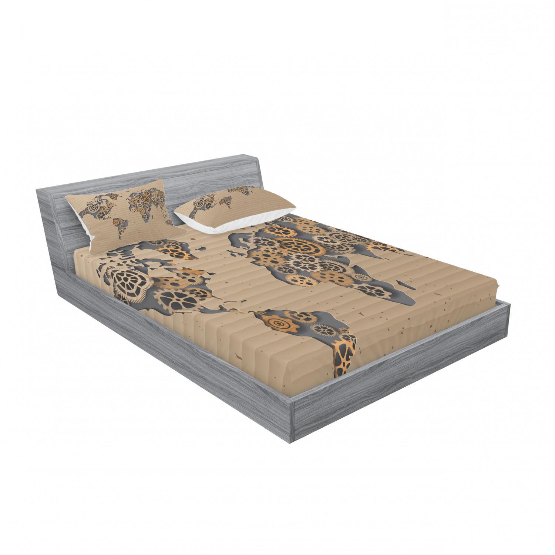 thumbnail 147 - Ambesonne Modern Design Fitted Sheet Pillow Sham Set Bedding Decor in 4 Sizes