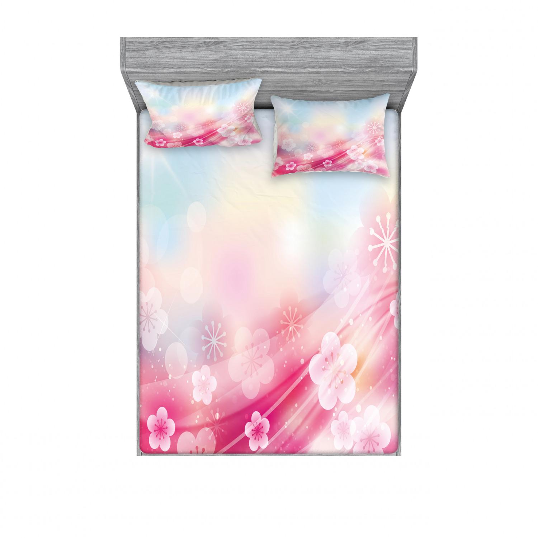 thumbnail 18 - Ambesonne Modern Design Fitted Sheet Pillow Sham Set Bedding Decor in 4 Sizes