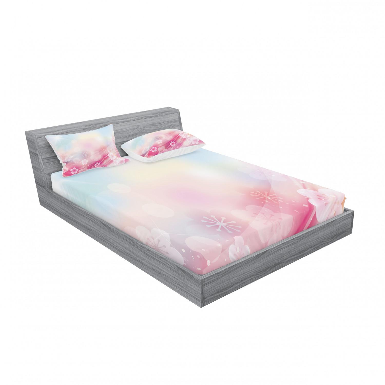 thumbnail 19 - Ambesonne Modern Design Fitted Sheet Pillow Sham Set Bedding Decor in 4 Sizes
