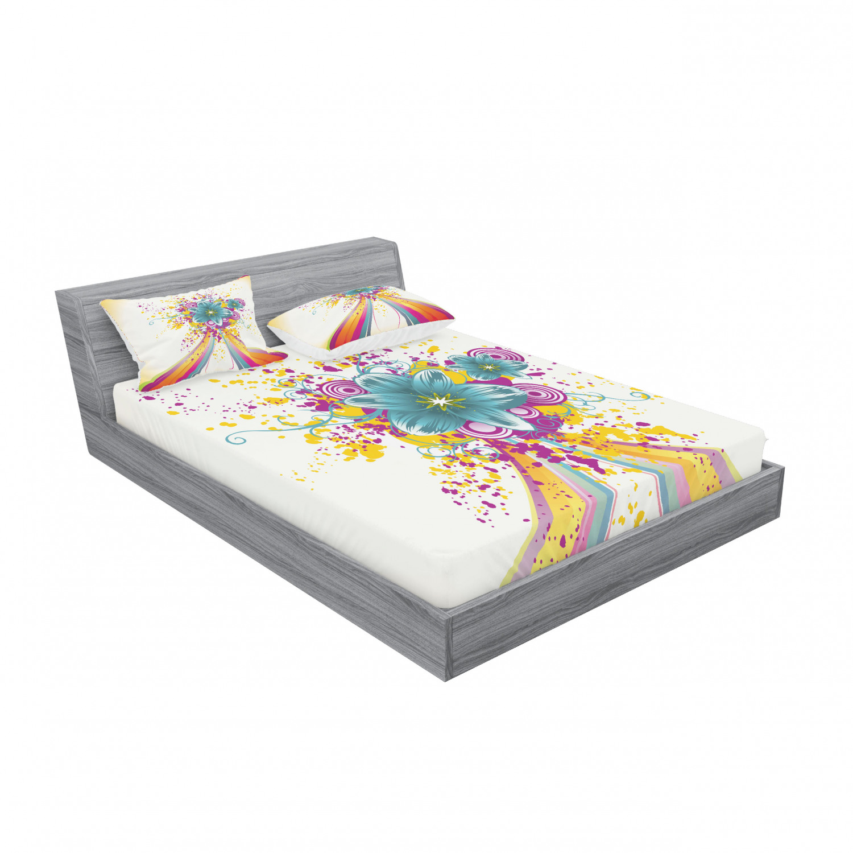 thumbnail 159 - Ambesonne Modern Design Fitted Sheet Pillow Sham Set Bedding Decor in 4 Sizes