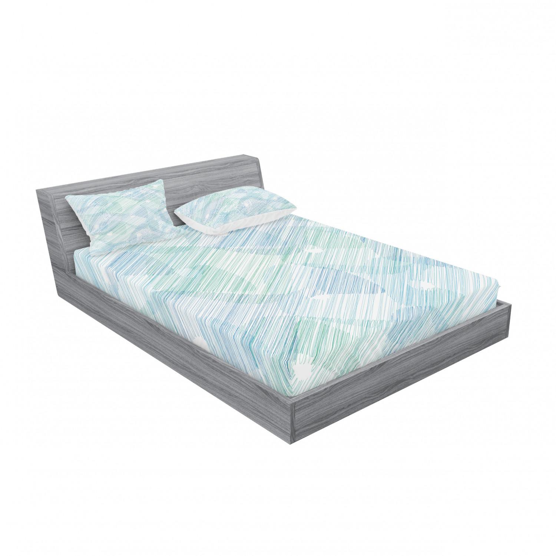 thumbnail 131 - Ambesonne Modern Design Fitted Sheet Pillow Sham Set Bedding Decor in 4 Sizes
